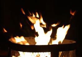 Campfire at Ft Desoto Fl